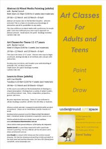 2014 painting and drawing at underground artspace